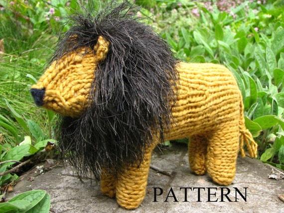 Waldorf Toy Lion Toy Knitting Pattern Pdf Digital Download Etsy