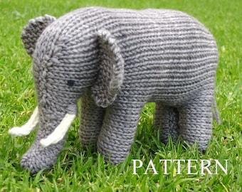 German, Elephant Knitting Pattern, PDF, Instant Digital Download