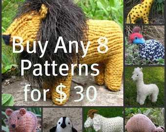 Buy Any 8 Mamma4earth Patterns for 30 Dollars, (PDF), Waldorf Toys, Hand Knit, Stuffed Animal Patterns,