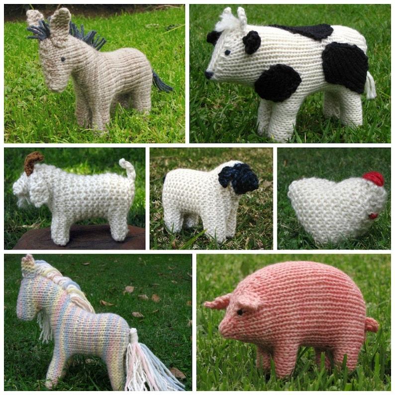 Farm Animals E-Book PDF knitting Instant Digital Download image 0