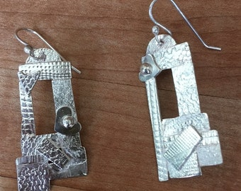 NEW Window to My Heart. Reclaimed Patterned Sterling, Asymmetrical, Castle, Fantasy, Love. Good to the Last Drop! #7