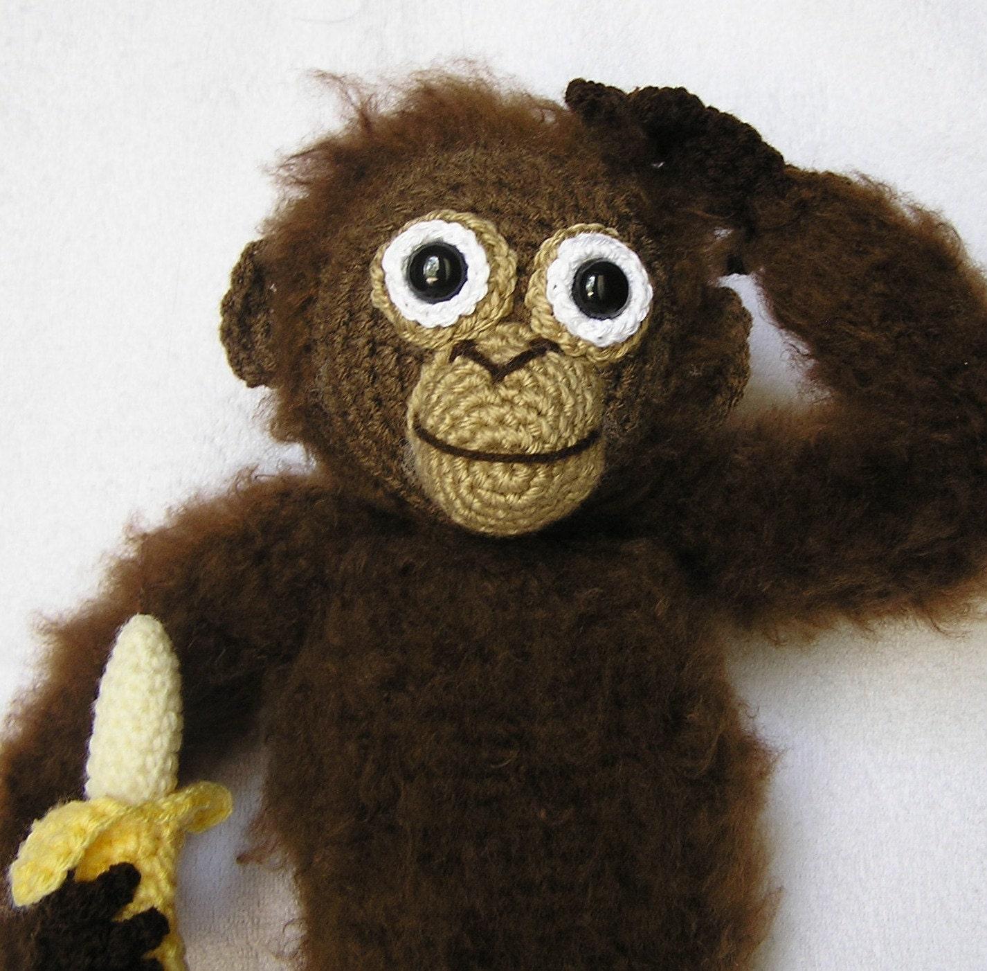 Pdf Crochet Pattern Baby Orangutan English Only Etsy