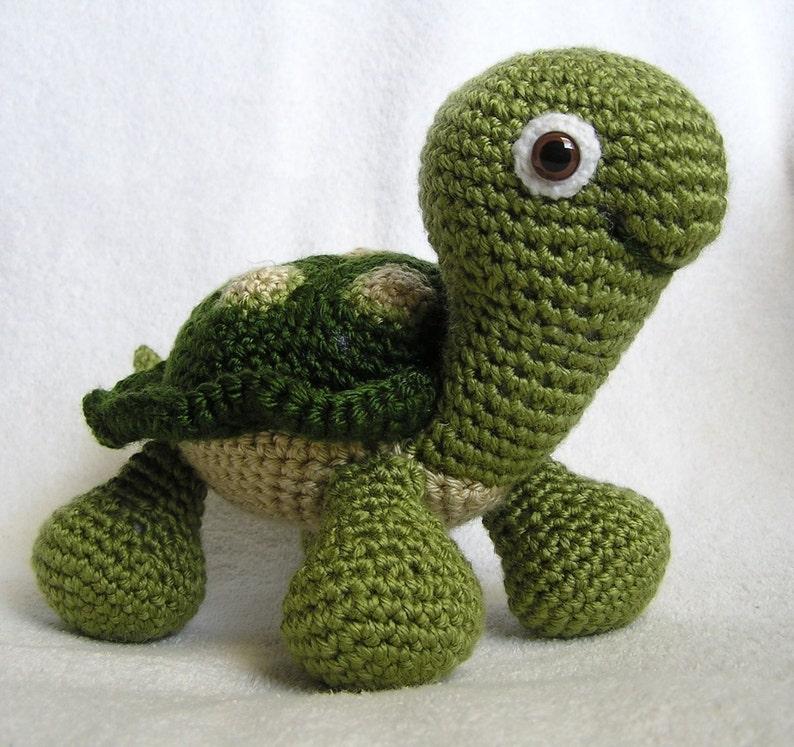 Baby Turtle Pdf Crochet Pattern English Only Etsy