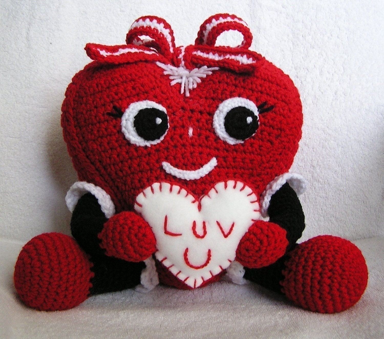 Pdf Crochet Pattern Pudgy Valentine Heart English Only Etsy