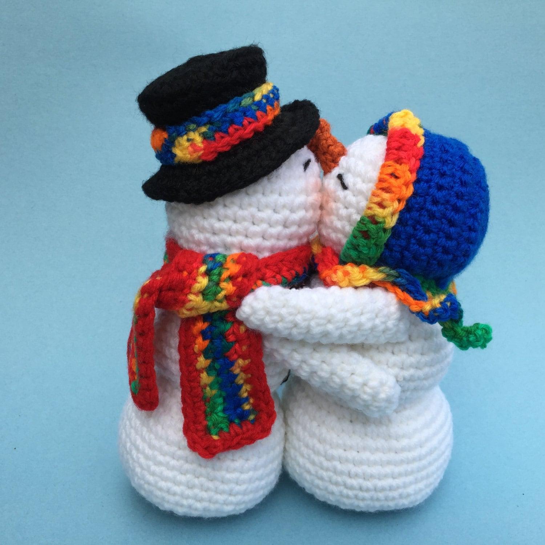 KISSING SNOWMEN PDF Crochet pattern English only