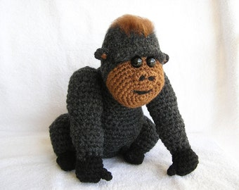 PDF Crochet Pattern BABY GORILLA (English only)