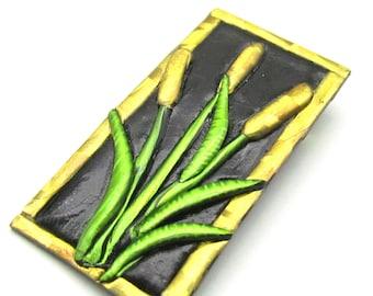 Cat o' Nine Tails  pin brooch