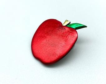 Red Apple Pin Brooch