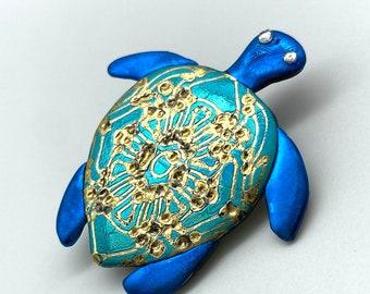 Sea Turtle Pin Brooch