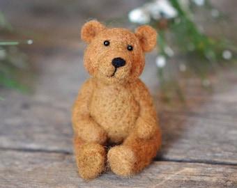 Bear Felting Kit - Needle Felting Kit - DIY Kit - Craft Kit - Felting Supplies - DIY Craft Kit - Starter Kit - Needle Felted – Beginner