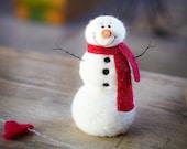 Snowman DIY Kit - Needle Felting Kit - Snowman Kit - Christmas Kit - Make Your Own - Christmas Decoration - Craft Kit - Christmas Craft