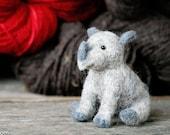 Needle Felt Rhino - Needle Felted Rhino - Baby Rhino - Wool Rhino - nursery decor - needle felted animal - baby animals