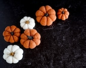 Extra wool to make 3 more pumpkins after completing the Pumpkin Needle Felting Kit