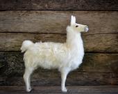 Llama Sculpture - Needle Felted Llama - Needle Felted Animal - Soft Sculpture - Felt Animal - Llama Decor - Llama Collectible