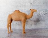 Felt Camel Sculpture - Needle Felted Camel - Needle Felted Animal - Soft Sculpture - Felt Animal - Camel Decor - nativity Décor