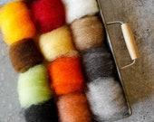 Wool for Needle Felting Sampler Pack