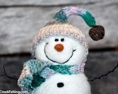 Needle Felt Snowman - Needle Felted Snowman - Christmas Snowman - Christmas Decoration - Christmas Decor -  Wool Snowman - Winter Décor 1003