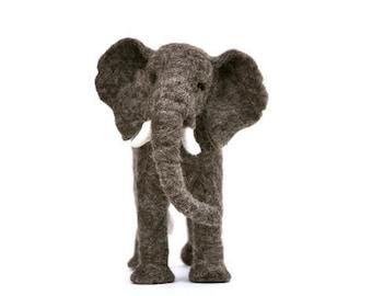 Elephant  - Needle felted wool African elephant