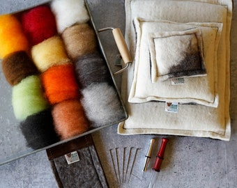 Deluxe Starter Needle Felting Kit - everything I use in my needle felting and recommend to my students