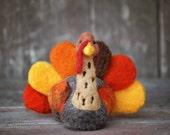 Turkey Needle Felting Kit - Thanksgiving Kit - Advanced Beginner - DIY Craft Kit - DIY Kit - Starter Kit - Thanksgiving Decor - Felting Wool