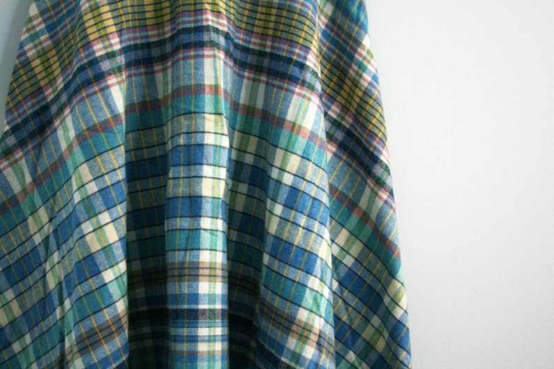 vintage 70s Blues /& Pinks Sweet Wool Skirt XS S