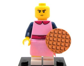 Eleven Custom Keychain, Necklace -or- Just The Figure - Stranger Things® Inspired Fan Art Crafted From LEGO® Elements *SALE*