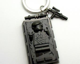 Han Solo® In Carbonite Inspired Keychain  Star Wars® Fan Art - Fan Art Crafted From LEGO® Elements