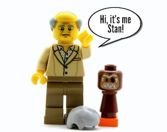 Stan From The Golden Girls® Custom Figure *SALE* + 2 Accessories - Fan Art Crafted From LEGO® Elements