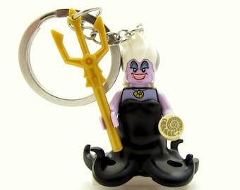 Ursula® Inspired Keychains - Little Mermaid® Fan Art *LAST ONE* - Fan Art Crafted From LEGO® Elements