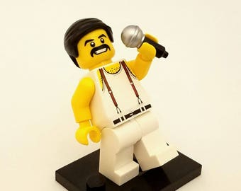 Freddie Mercury Custom Keychain, Necklace -or- Just The Figure *SALE* Fan Art Crafted From LEGO® Elements