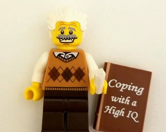 EINSTEIN Custom Figure,  Keychain or Necklace Options *SALE* Fan Art Crafted From LEGO® Elements