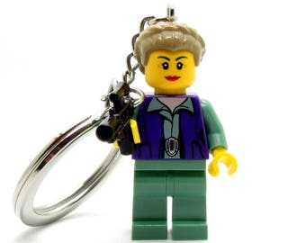 General Leia Organa® Inspired Keychain or Necklace *SALE* Star Wars® Fan Art Crafted With LEGO® Elements