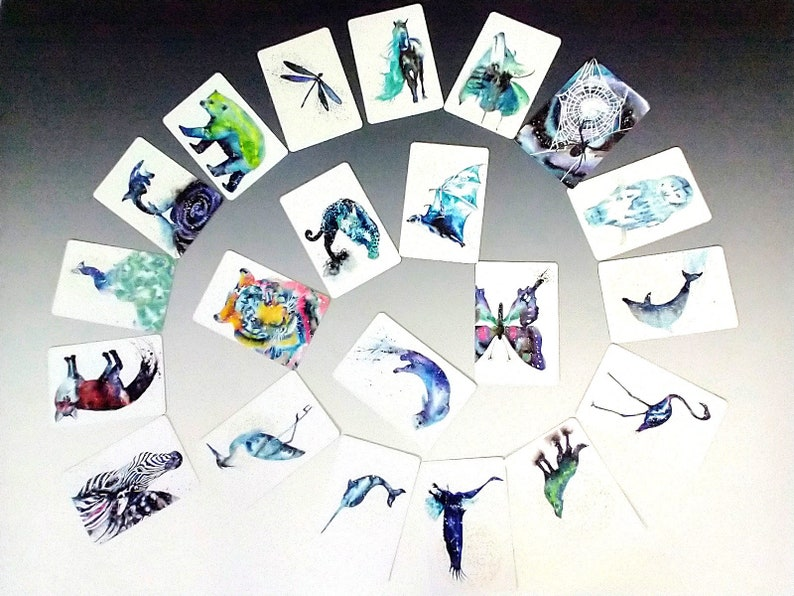 Cosmic Animal Cards Mystery Pack of 12 Limited Edition image 0