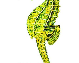 Seahorse Art Print 8x10 Watercolor