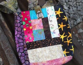 DESTASH!! THINKER Batik Quilted Handbag Tote or Purse