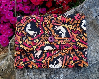 DESTASH - KOKOPELLI Cotton Quilted Knitting Tote Pouch