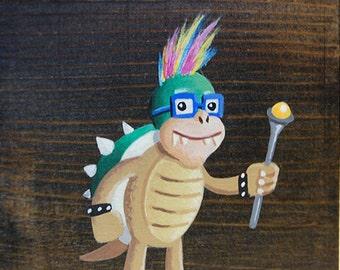Mario's Foes: Iggy Koopa - Original Nintendo Mini-Painting