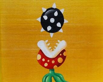 Mario's Foes: Ptooie Piranha Plant - Original Nintendo Mini-Painting