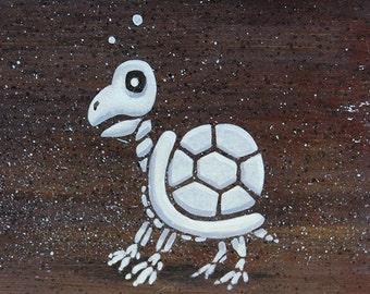 Mario's Foes: Dry Bones Koopa Troopa - Original Nintendo Mini-Painting
