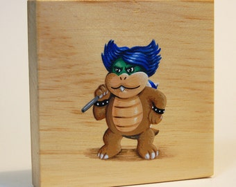 Mario's Foes: Ludwig Von Koopa - Original Nintendo Mini-Painting