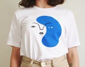 Blue Shape Face T-Shirt