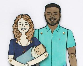 Neugeborenes Baby (Ihre benutzerdefinierte Papier-Puppe-Bestellung hinzufügen)