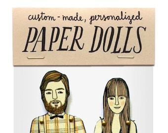 Paper Doll Portrait  — Custom Order