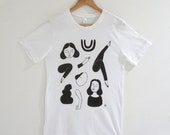 Ink Figures Printed T-Shirt