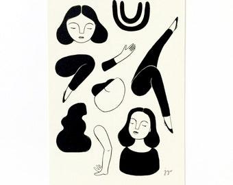Ink Drawing / 4x6 print