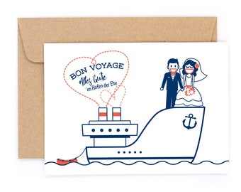 The Love Boat #1880 Letterpress card with envelope