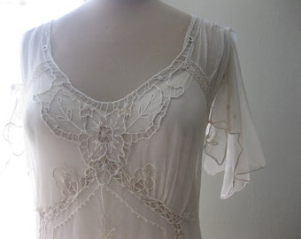 Antique Lace Wedding Dress, One of a Kind, Boho Wedding Dress, Vintage Lace Wedding Dress, Edwardian Wedding Gown