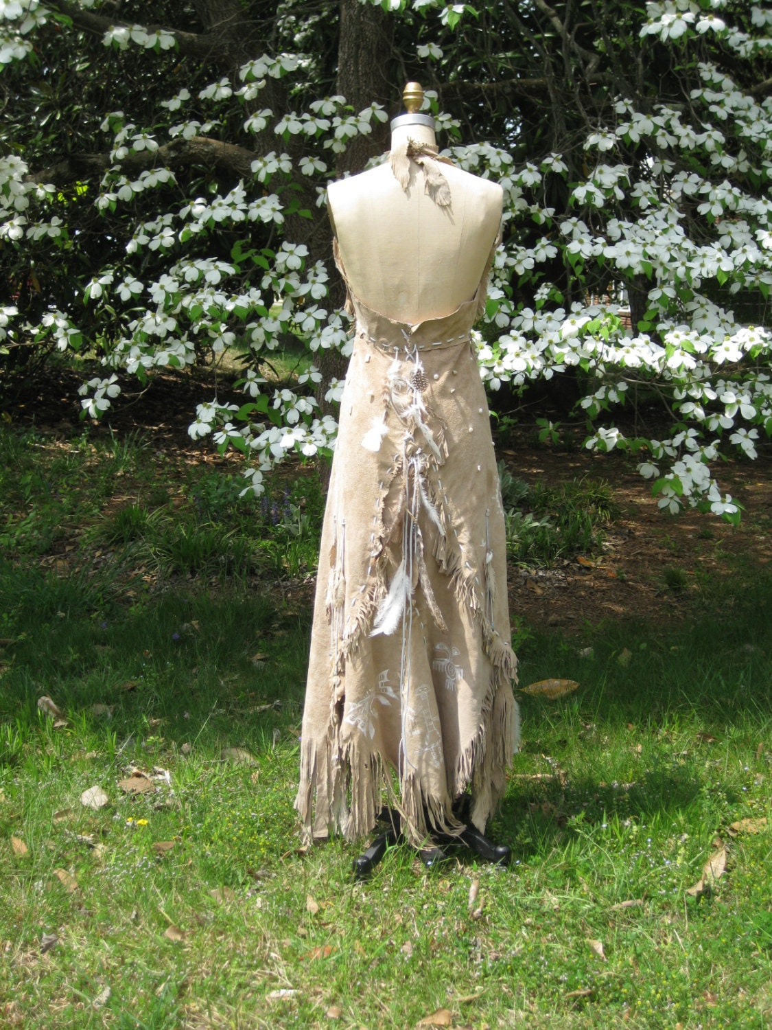 Leather Wedding Dress Native American Inspired Tribal Boho Etsy