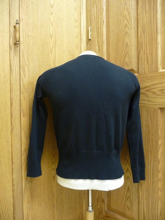 Dalia Collection Women/'s Cotton Black Cardigan; Size L Large USED