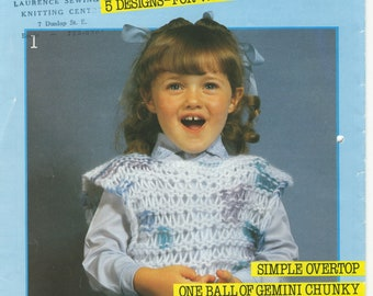 Girl's Sweaters Sirdar Knitting Pattern Book E 159 (Ffizzknits 2); Good Booklet; USED